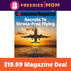 Magazine Deal: Consumer Reports $19.99