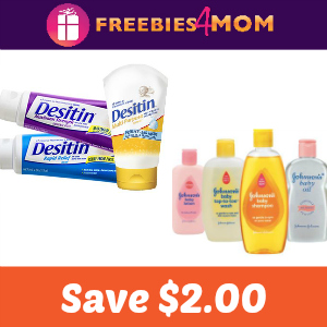 Coupon: $2.00 off one Johnson's or Desitin