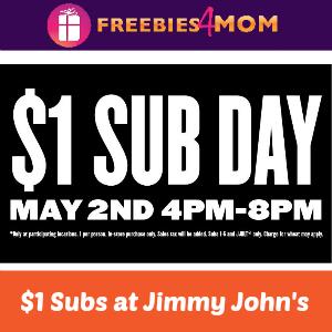 $1 Subs at Jimmy John's May 2