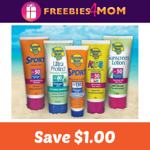 Coupon: $1.00 off any Banana Boat Product