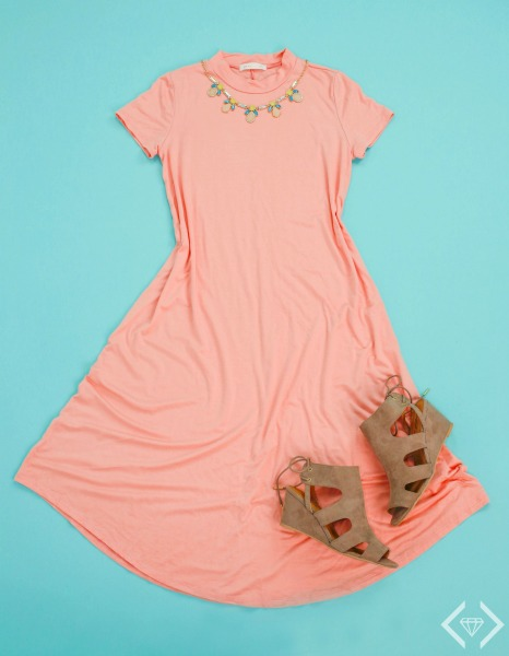 Short Sleeve Swing Dress $21.95