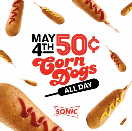 $0.50 Corn Dogs at Sonic May 4