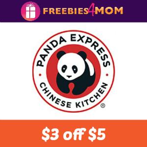 Save $3 off $5+ Panda Express Online Order