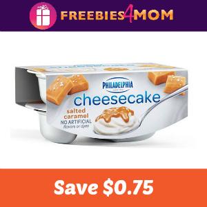 Save $0.75 on Philadelphia Cheesecake Cups