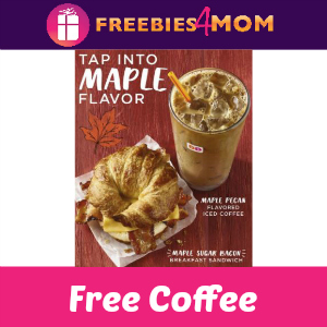 Free Maple Pecan Coffee at Dunkin' Donuts