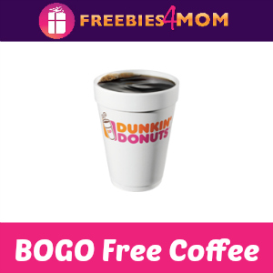 BOGO Free Coffee at Dunkin' Donuts Sept. 29