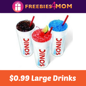 $0.99 Large Drinks at Sonic Today