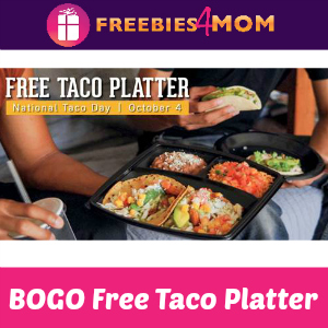 BOGO Free Taco Platter at El Pollo Loco Oct 4