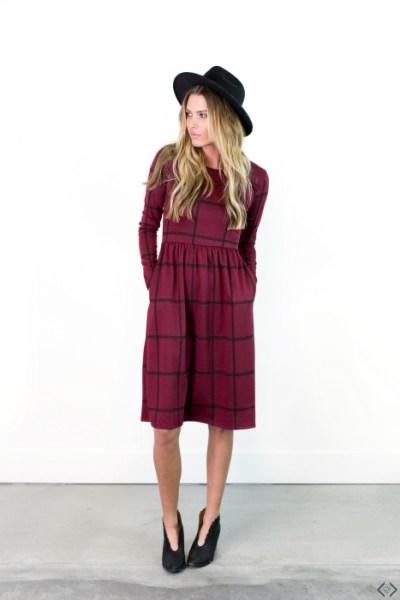 $34.95 Windowpane Dress