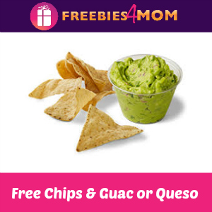 Free Chips & Guac or Queso at Chipotle