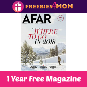 1 year free of AFAR magazine (6 issues, $19.95 value)