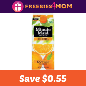 Coupon: Save $0.55 on Minute Maid Orange Juice