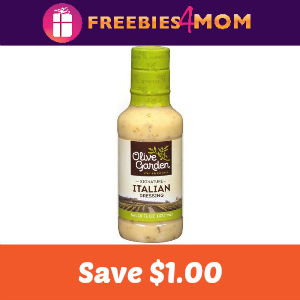 Save $1.00 on Olive Garden Salad Dressing