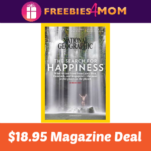 Magazine Deal: National Geographic $18.95