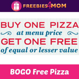 BOGO Free Pizzas at Domino's (thru 3/18)