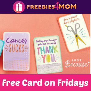 Free Card Friday at Hallmark ($2.99 value)