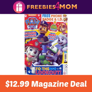 Magazine Deal: Paw Patrol $12.99