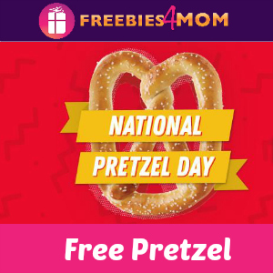 Free Pretzel at Pretzelmaker Today
