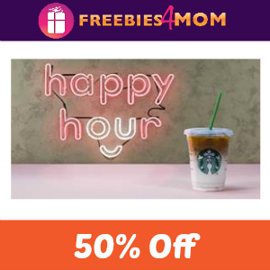 Starbucks 50% Off Latte or Macchiato