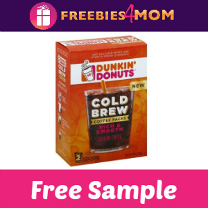 Free Sample Dunkin' Donuts Cold Brew Coffee