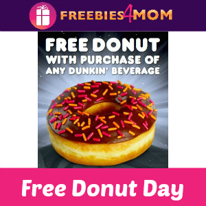 Free Donut at Dunkin' Donuts June 7