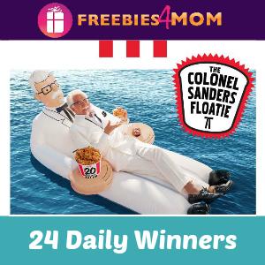Sweeps KFC's Colonel Sander's Floatie Giveaway