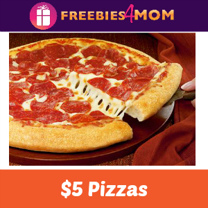 3 Medium 1-Topping Pizzas at Pizza Hut $5 Each