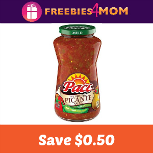 Coupon: Save $0.50 on any Pace Salsa or Dip