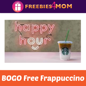Starbucks BOGO Frappuccino June 29