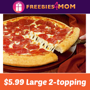 Pizza Hut $5.99 Large 2-Topping Pizza
