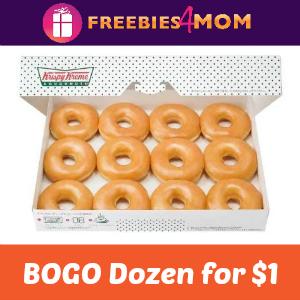 Buy One Krispy Kreme Dozen Get One for $1