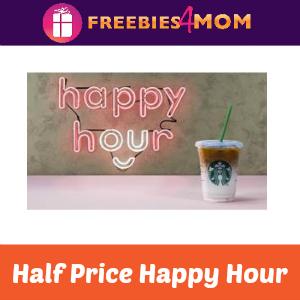 50% offa Frappuccino at Starbucks July 19