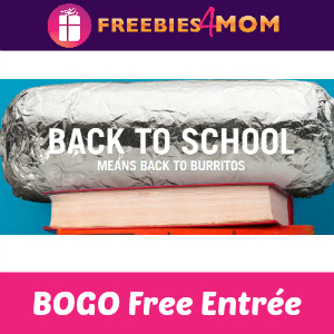 BOGO Free Entrée at Chipotle (for Students)