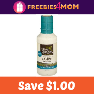 $1.00 off Olive Garden Parmesan Ranch Dressing