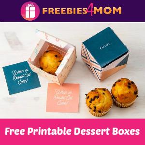 Free Printable Dessert Boxes