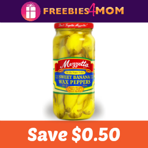 Save $0.50 on one jar of Mezzetta Peppers