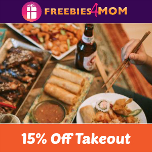 15% off P.F. Chang's Takeout