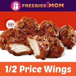 Sonic 1/2 Price Wings October 18
