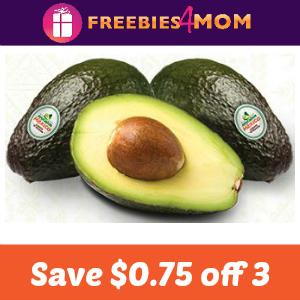 Coupon: Save $0.75 off 3 Avocados From Mexico