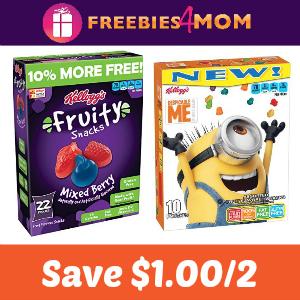 Save $1.00 on any 2 Kellogg's Fruit Snacks