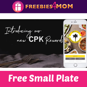 Free Small Plate at California Pizza Kitchen