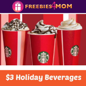 $3 Holiday Drinks at Starbucks Today