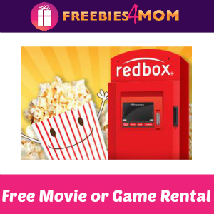 Free Redbox Video or Game Rental
