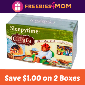 Coupon: Save $1/2 Celestial Seasonings boxes