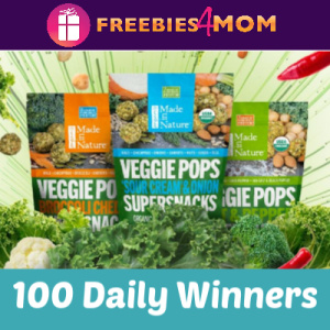Sweeps Made in Nature Veggie Pops Sample