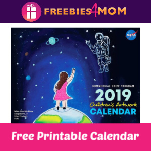 Free 2019 NASA Children's Artwork Calendar