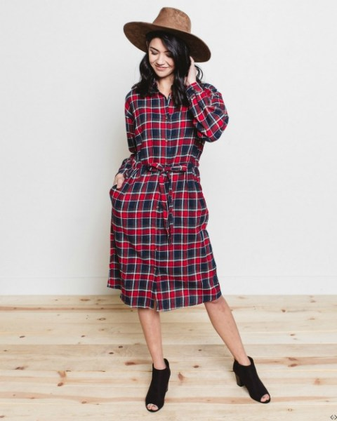 $10 off V-Neck Tunic or Flannel Shirt Dress