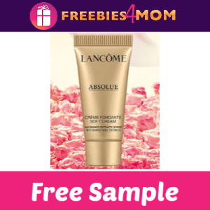 Free Sample Lancôme Absolue Soft Cream