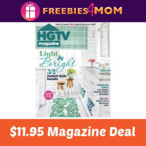 Magazine Deal: HGTV $11.95