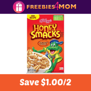 Coupon: Save $1.00 off 2 Honey Smacks Cereal